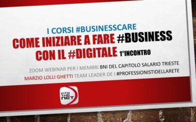 #BusinessCare, il business digitale al tempo del Coronavirus, i webinar di Into The Net