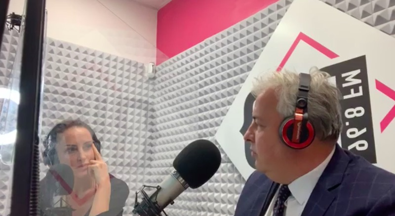 Marzio Lolli Ghetti in onda su RID 96.8 FM
